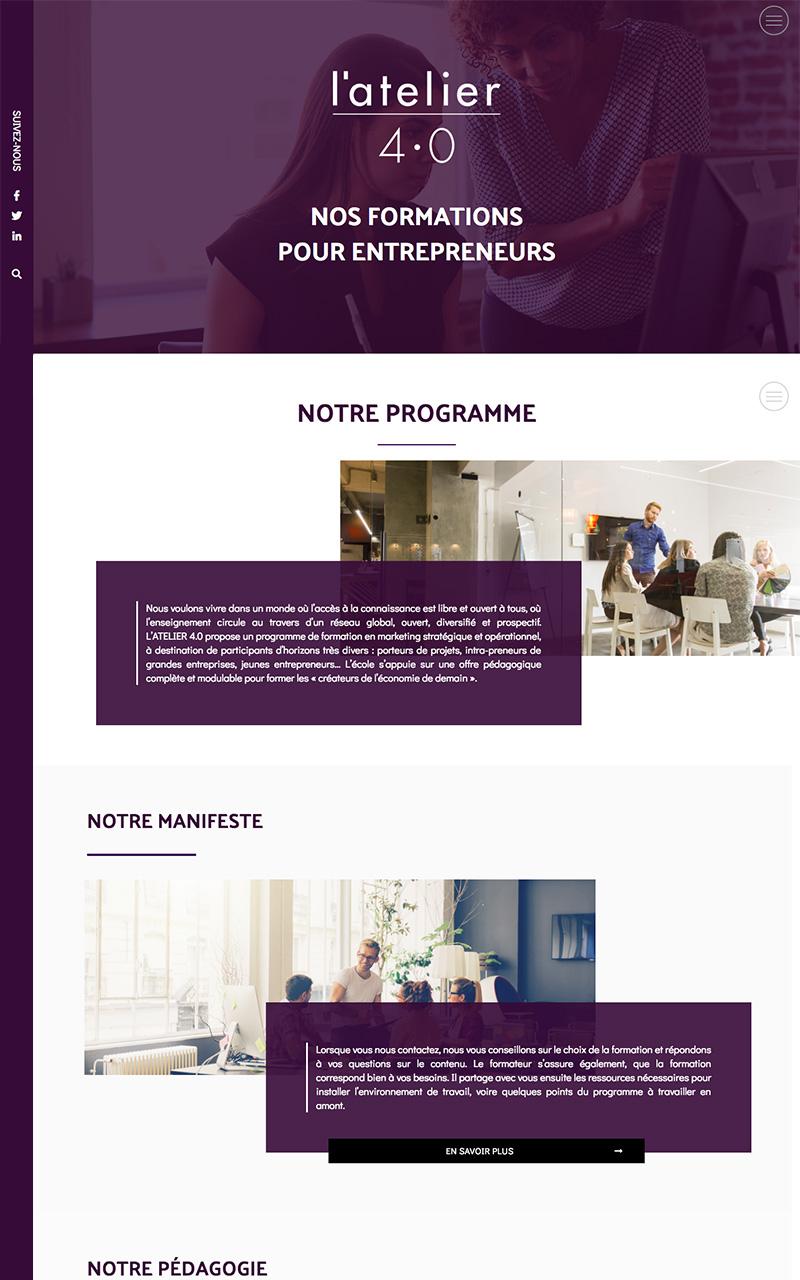 Nos réalisation - Webdesign Atelier 40