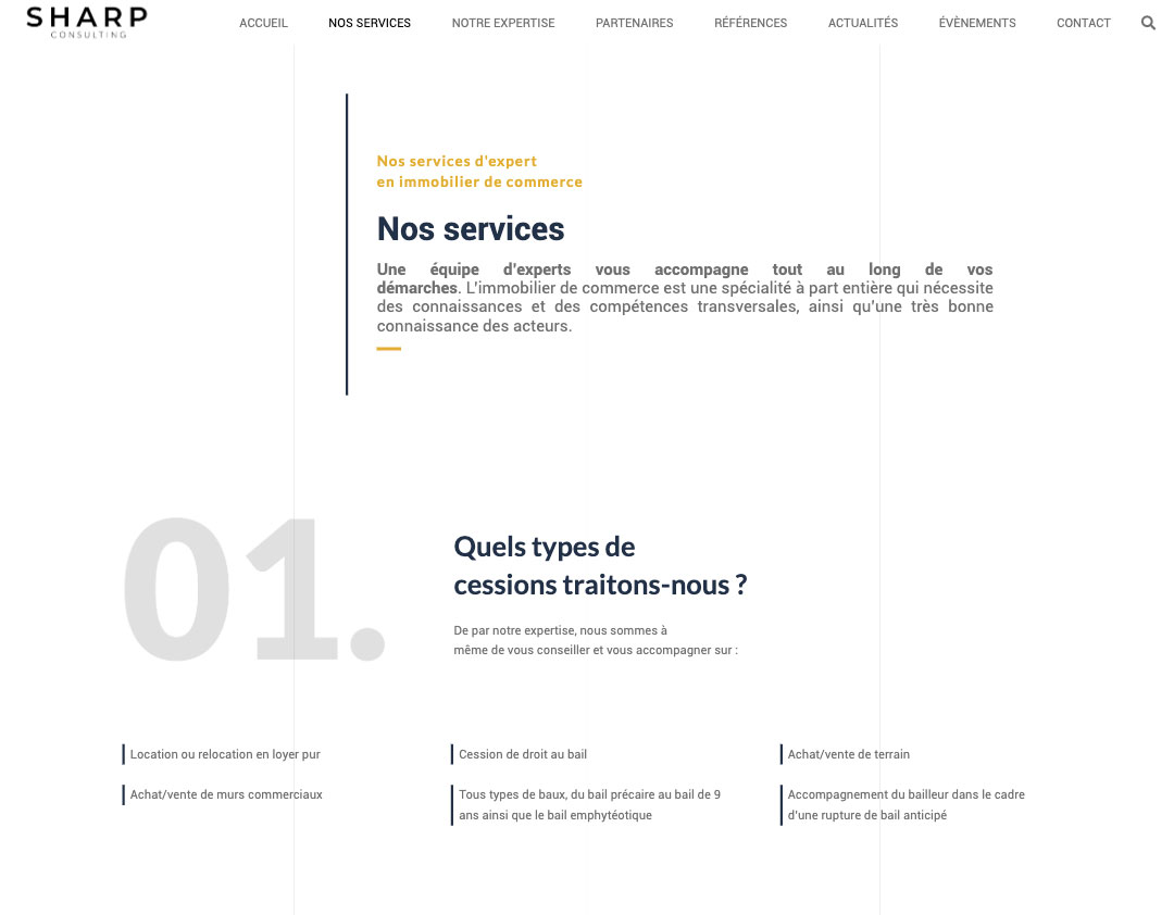 Nos réalisation - Sharp Consulting