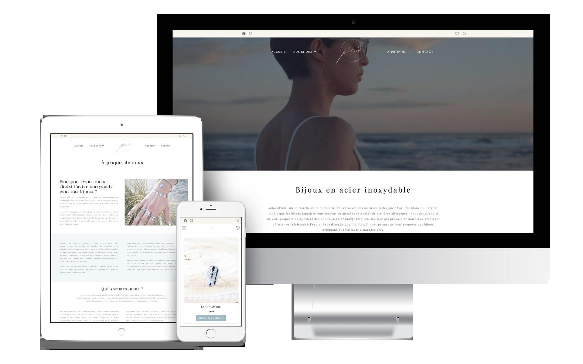 Web design - Les bijoux de Paô