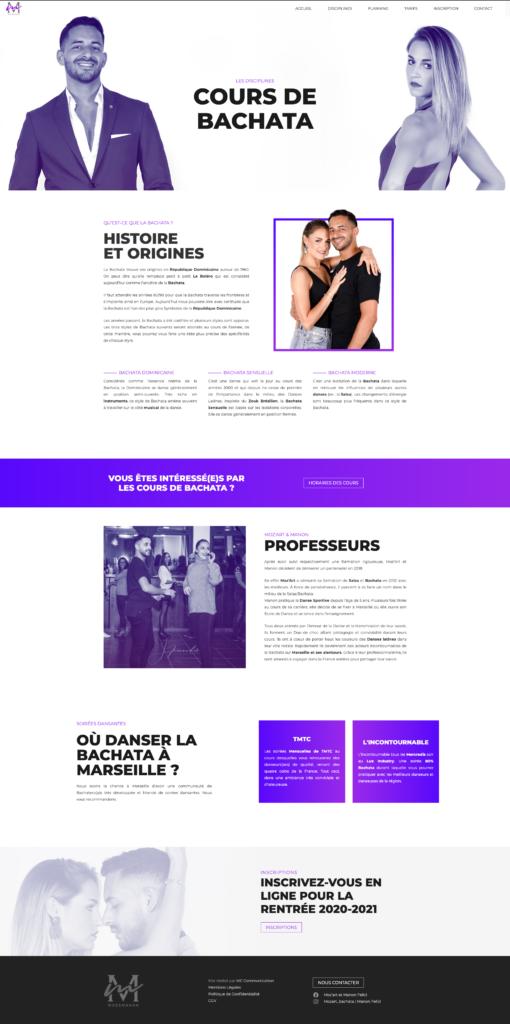 Webdesign - Page contenu Latin Project