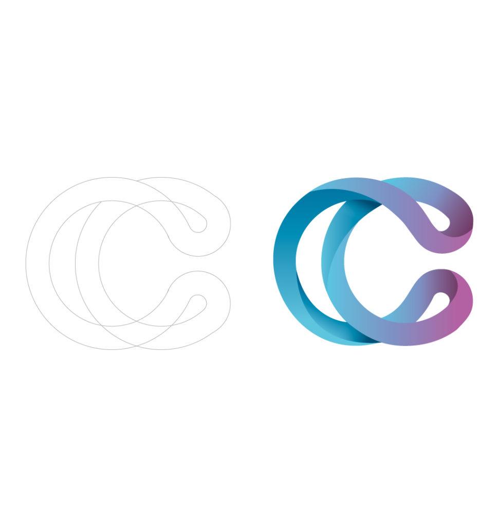 Création de l'emblème Community Care - Création graphiques MC Communication