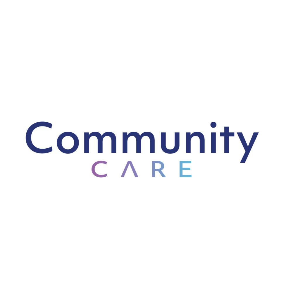 Travail de typographie pour l'entreprise Community Care - Création de logo